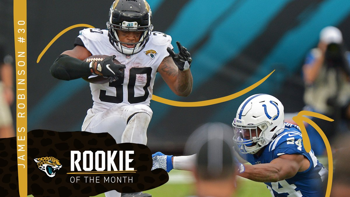 RT @Jaguars: Undrafted ➡ Offensive Rookie of the Month  RT to congratulate @Robinson_jamess (and follow him!) https://t.co/CYaOJgH0uH