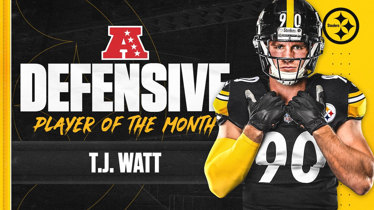 Pittsburgh Steelers On Twitter Tjwatt Has Been Named Afc Defensive Player Of The Month For September More Https T Co 3y3foloul3
