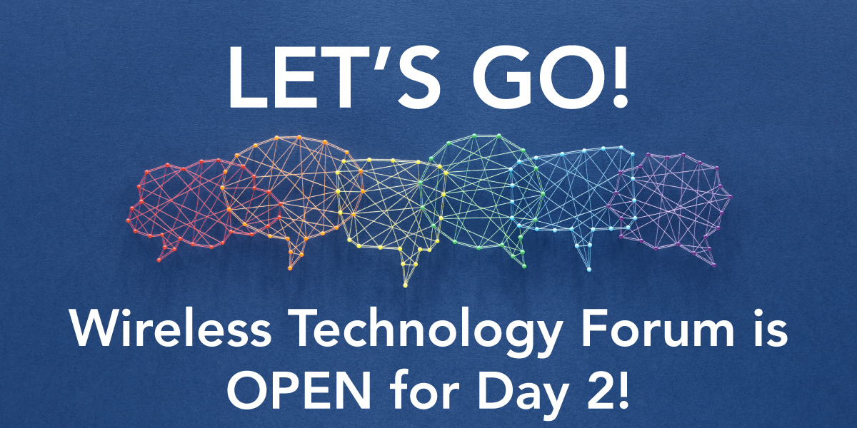 Wireless Technology Forum is now open for Day 2!  Enter the event and start chatting with your wireless friends! https://t.co/E6q5M5NvhJ  #wtf20 #conference #wireless #networking https://t.co/1M99vBMAuw