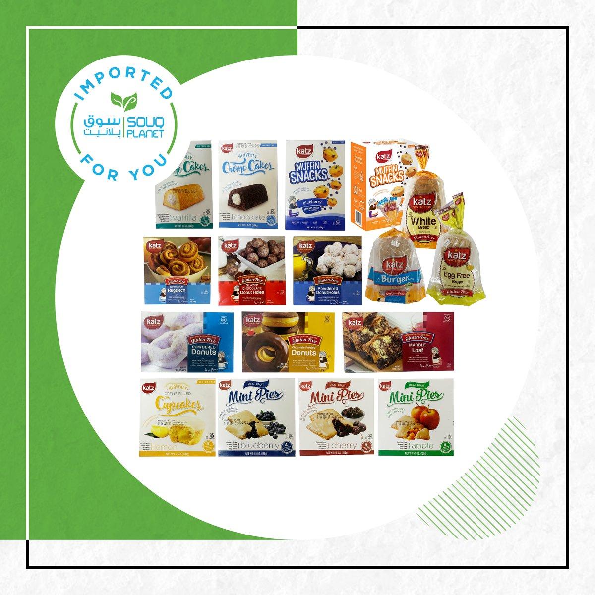 Are you shopping gluten-free?😍  Check out our wide range of Katz products, now available at your nearest Souq Planet 🌱   #souqplanet #onlineshopping #groceryshopping #inabudhabi #dubai #alain #uae #vegan #madinatzayed #smartshopper #safeplanet # #socialdistancing #abudhabi https://t.co/jxJHREmvLC
