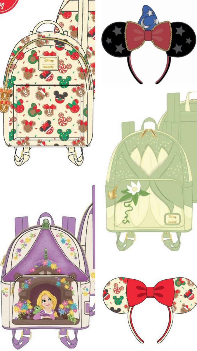 Disneylifestylers On Twitter New Disney Bags By Loungefly Featuring Disney Christmas And Tangled Https T Co 6z9attowpo