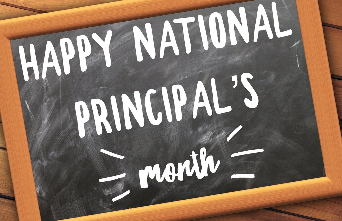 Happy National Principal's Month to my colleagues and friends! Thank you for the work you do leading, learning and loving our staff, students and schools! @ilprincipals @NAESP #323learns #dgsroyals #leadlap #tlap https://t.co/QUV78KnpOK