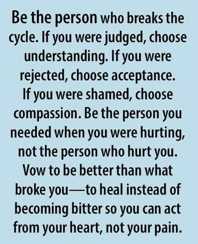 Be the person you needed! #love #acceptance #inclusion #awareness #forgiveness https://t.co/L3LstSc6oV