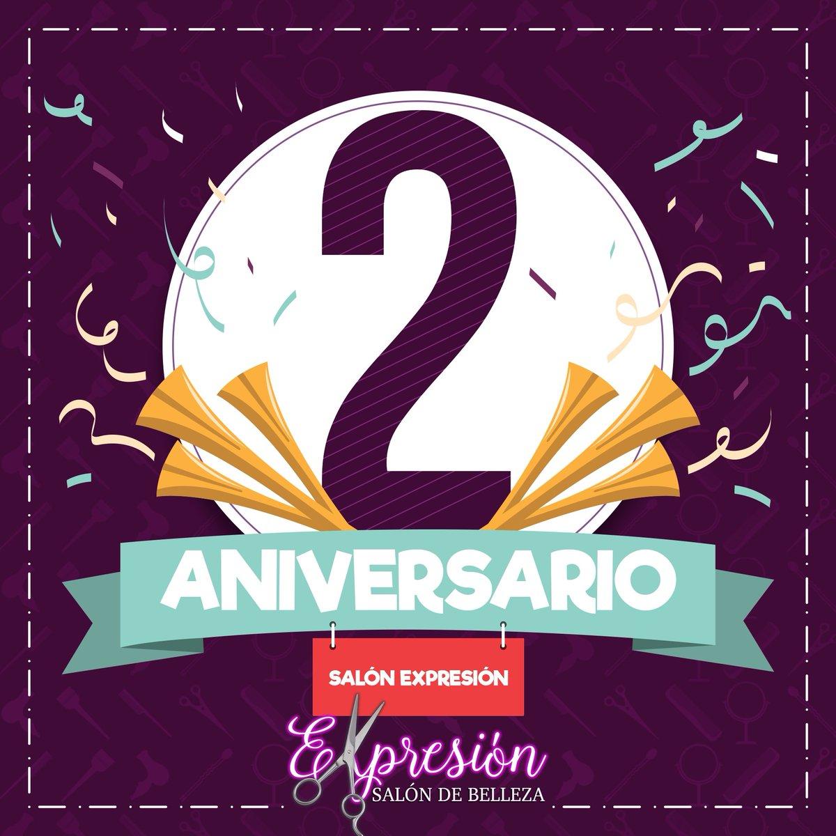 Tiramos la #casa 🏠 por la ventana y festejamos💃🏻🕺🏻 a lo grande nuestro 🎈🥳🎊🎉 #Segundo #Aniversario.🥳🎊🎉🎈 ¡Aprovecha nuestras 🎁 #promociones 🎁! ¡#Reserva Ahora 🕑 Mismo tu #cita📝! https://t.co/8QLVdeXeRg