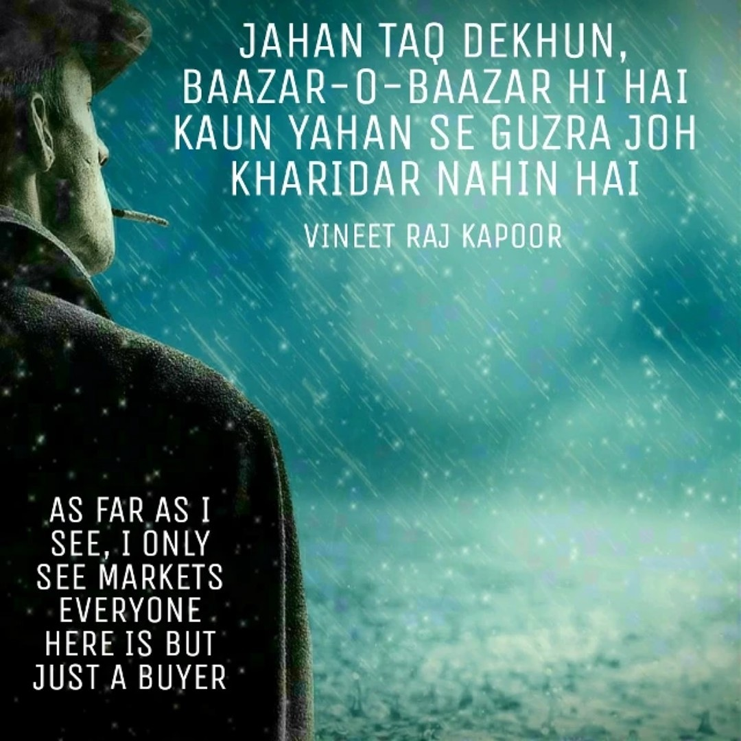 WHICH DESTINATION HERE IS NOT A MARKET IS THERE ANYONE WHO WAS NOT A BUYER #bazar #market #markets #trade #buyer #poetry #sher #shayar #shayari #shayri #couplet #urdushayari #urdupoetry #hindishayari #hindipoetry #poetrycommunity #poetryquotes #urduslam #urduadab #poetryslam https://t.co/04pGr8Rzeo