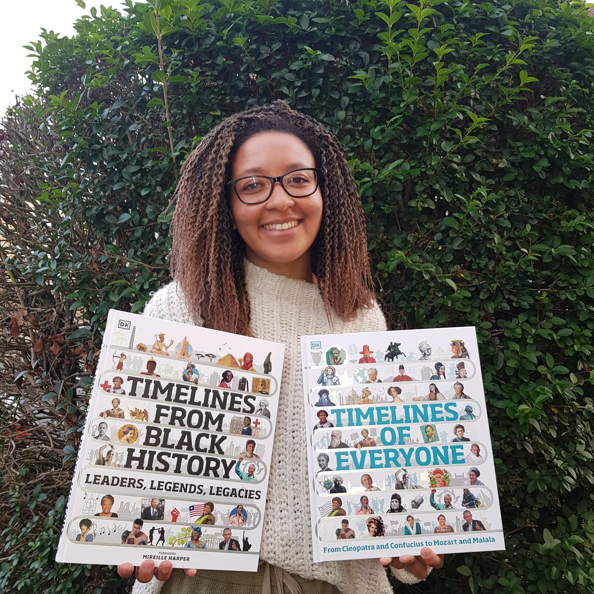 Book babies are out! V. proud to share that I worked on Timelines of Everyone and Timelines of Black History and both are out today. Thanks to the @dkbooks crew for their brilliant work on this. Lil' thread to follow below.