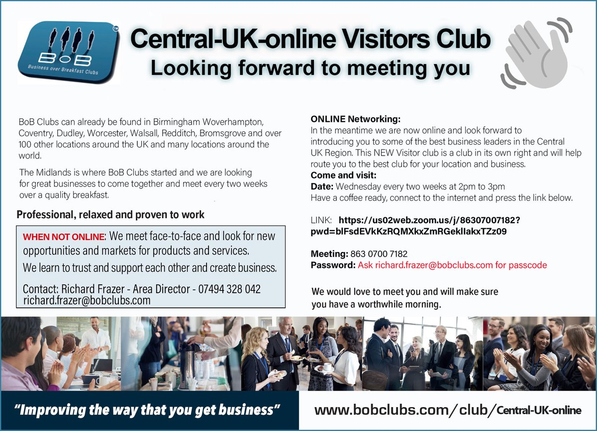 #coventryhour Never been to @bobclubs before? Come visit us Wed 2pm every 2 weeks-Free to visit.Lasting connections We want to help you into finding networking valuable https://t.co/KSPSVD63cZ #gloucestershire #leicestershire   #warwickshire #westmidlands #lestahour https://t.co/W85SIwNtT6