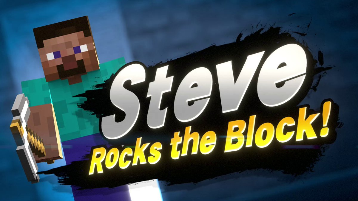 Steve and Alex from @Minecraft are joining the #SmashBrosUltimate roster! Get ready to mine and craft your victories on the battlefield!