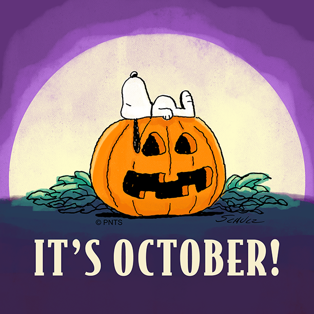 Replying to @Snoopy: Hello, October! 🎃