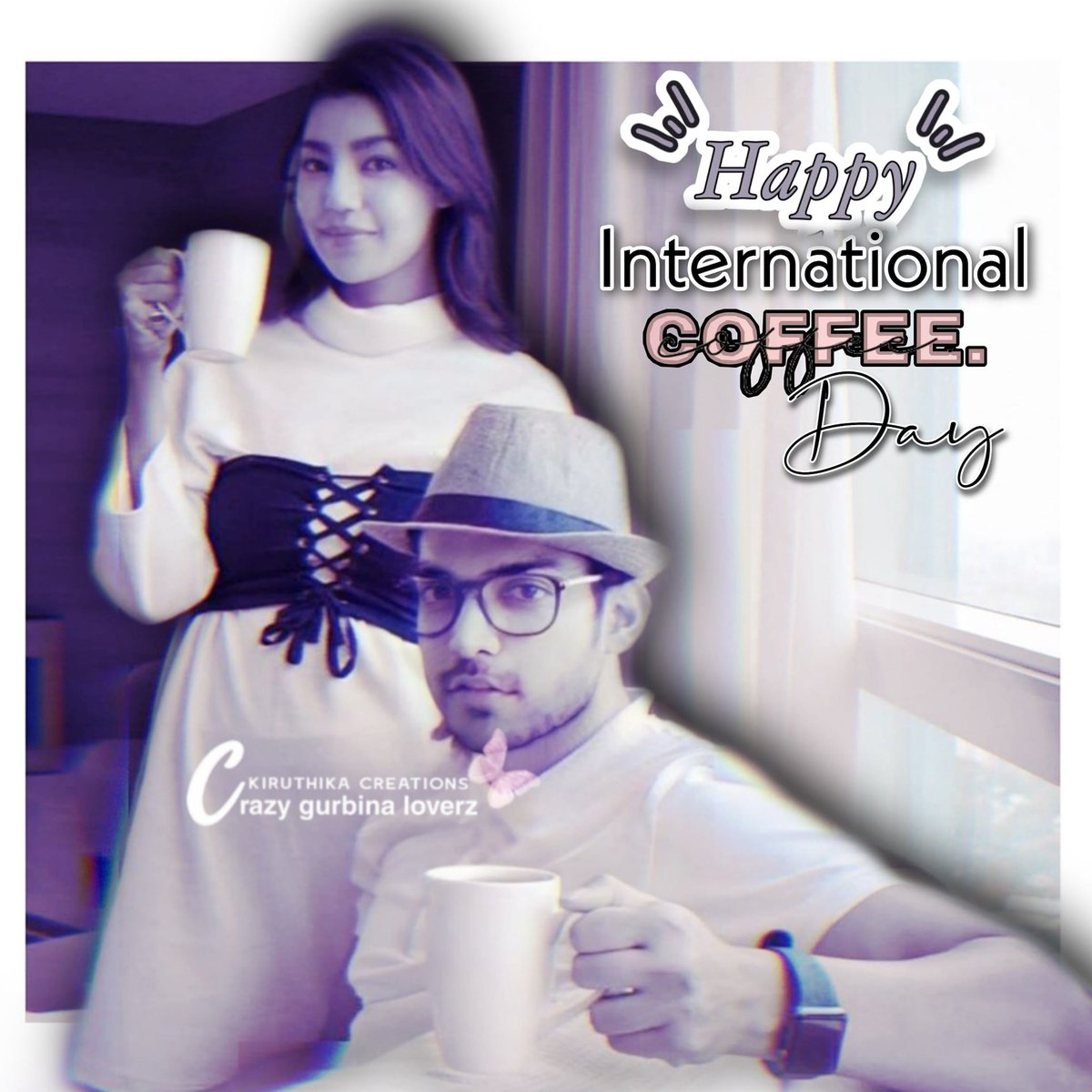How come being a #Coffee lover... can stop myself from posting my Lovebirds with ☕ cup... tried out #Teenage version of #Gurbina 😊   #HappyInternationalcoffeeday   Get well soon dears ❤️ #Gurmeetchoudhary #Debinabonnerjee sending lots love and prayers🙏 https://t.co/i92gftO7F2