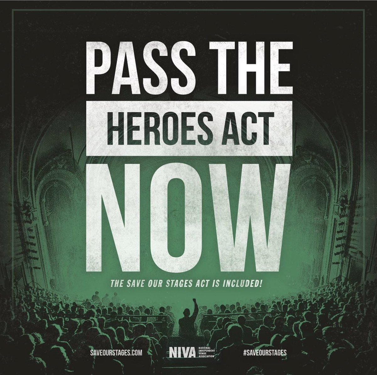 Congress: We urge you to pass the updated HEROES Act, which includes giving Americas independent venues a fighting chance to survive. Doing so will help #SaveOurStages, put millions back to work, and uplift our communities. Thanks to Sen & Reps who are helping #SaveOurStages