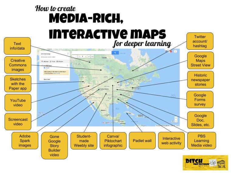 How to create media-rich, interactive maps for deeper learning  https://t.co/rjhZBaTreo   #ditchbook #edtech https://t.co/d451AkYG9k