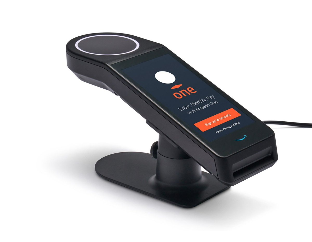 Amazon launches contactless palm biometrics for retail, access control markets | From @BiometricUpdate  #biometrics #biometricprivacy #biometricdata #fingerprint #facialrecognition #BIPA #cybersecurity #privacy #compliance #databreach #CCPA #technology  https://t.co/hjvJPsl5uM https://t.co/Eo0M9w2z5c