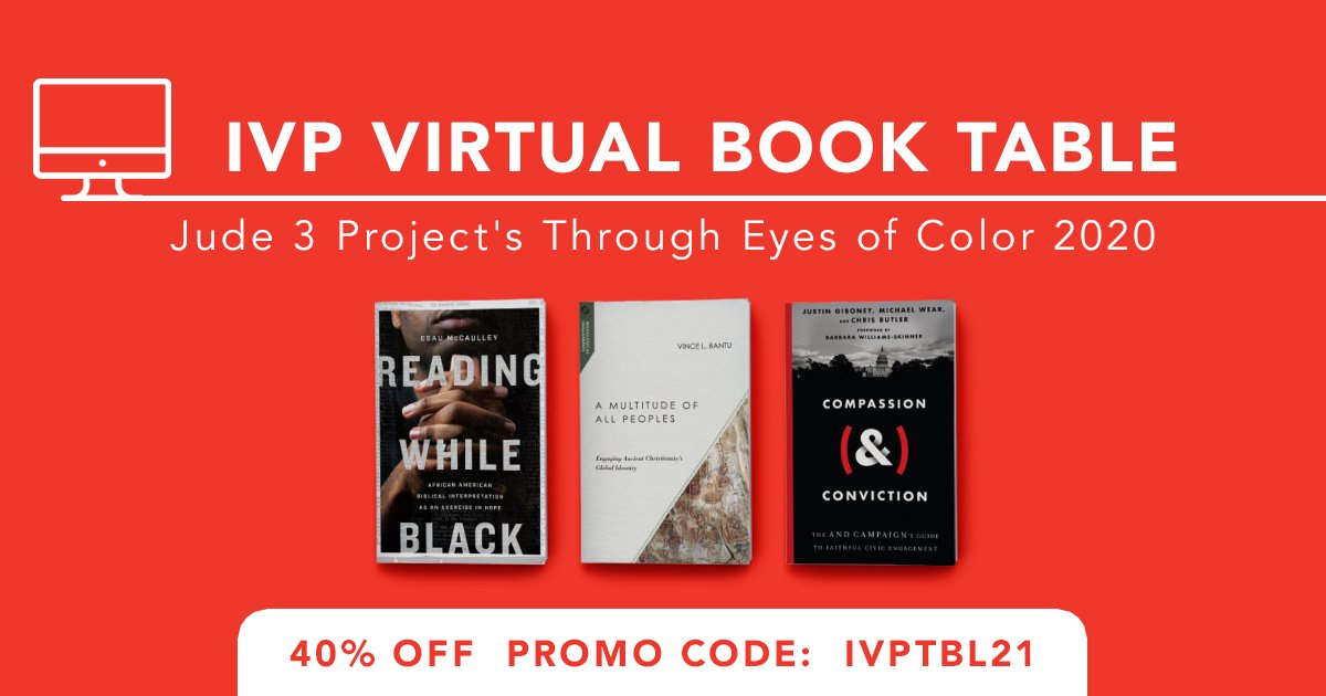 Take 40% off these titles at our virtual book table for @jude3project's Through Eyes of Color 2020 Virtual Event!  Use code IVPTBL21 at https://t.co/uWsXaCIv9k. https://t.co/uK9IObV3Pf