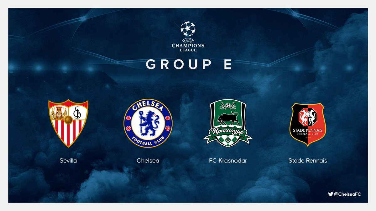 Chelsea Fc On Twitter We Re In Group E For This Season S Championsleague Thoughts On The Draw Ucldraw