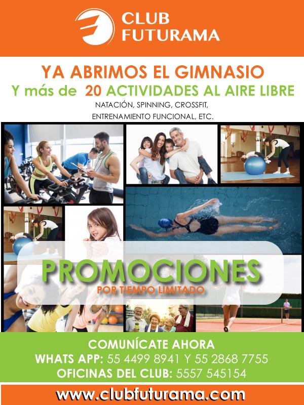 #YaAbrimos Ven y disfruta de más de 20 actividades al aire libre y Gimnasio. Te esperamos #gimnasio #gym #clubdeprtivo #raqueta #fútbol #natación #crossfit #entrenamientos #fitness #vidafit https://t.co/bPiwJNB3ox