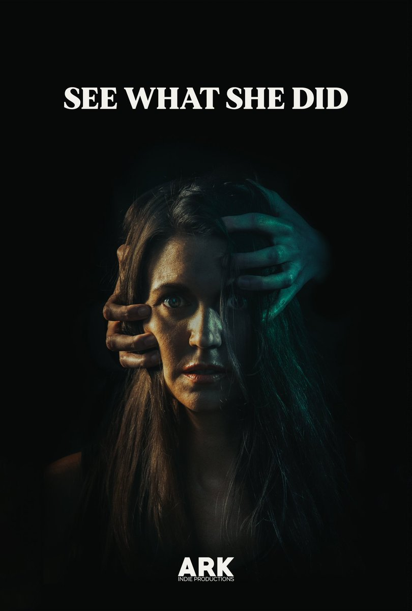 Introducing the official poster for 'SEE WHAT SHE DID'. Hope you like it! Awesome photography by Nathan Bailey 👍🏼 #arkindieproductions #indiefilm #womeninfilm #poster #horrorshort #horrorposter #shortfilm https://t.co/cGChDtET5j