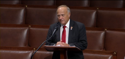 Rep. Steve King R-IA now on the floor for a Point of Personal Privilege. He is complaining about his treatment by the press, other Republicans, and the GOP candidate who defeated him in the primary.
