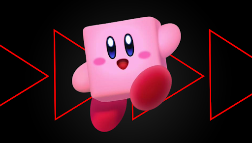 Live look of Kirby after inhaling Steve.