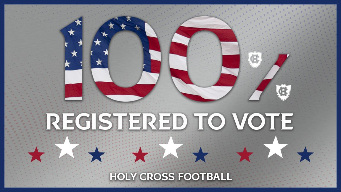 We are READY to make our voices heard on Nov. 3 ‼ 💯 PERCENT of our eligible voters are registered for the upcoming election. holycross.turbovote.org #VoteCrossVote | #GoCrossGo