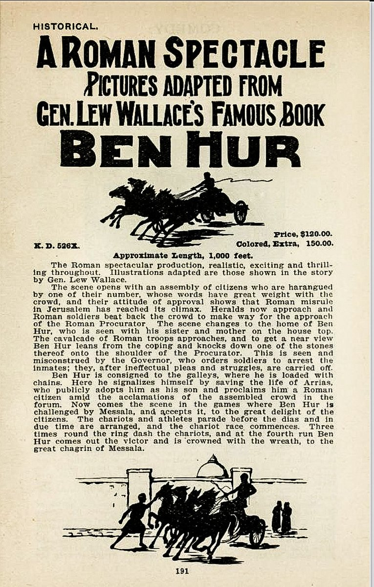 When Women Wrote Hollywood: The Movies – 10 in a series – Ben Hur (1907), Wr: Gene Gauntier  https://t.co/defB9VwbHO  #books #screenwriter #screenwriting #history #movies #film #women #education #academic #research #resources  @McFarlandCoPub @stephenscollege @MFAscreenwriter https://t.co/8kA7WEeO6D