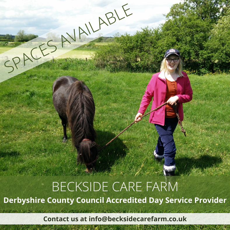 We have day service places available for people of 19 years & over with mental health conditions, a learning disability or who are on the autistic spectrum.  For more information, please email Ann at info@becksidecarefarm.co.uk  #LearningDisability #Autism #CareFarm #Derbyshire https://t.co/bZpI05EJkD