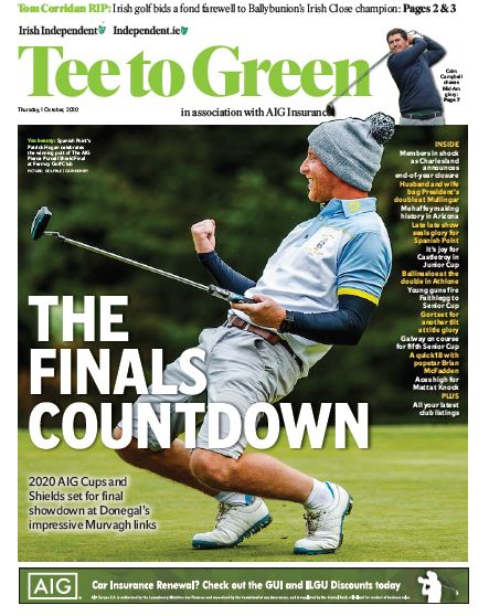 ⛳ Today's Tee to Green in association with @AIGinsurance is packed with news, interviews and features, including the 2020 AIG Cups and Shields that are set for their final showdown at Donegal's impressive @MurvaghGC @charlesland_gc @CastletroyGC @FaithleggGolf