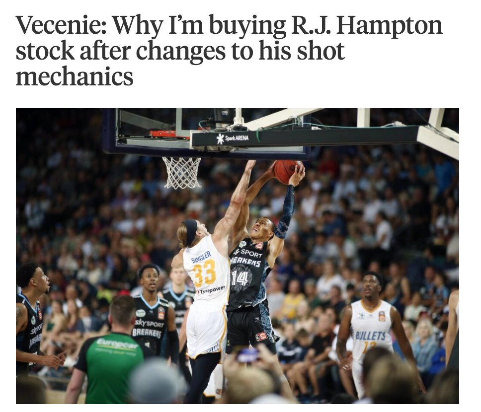 R.J. Hampton has shot up my big board this month to where I have him in the top-10. Why? Because he's completely re-vamped his shot in the pre-draft process. I talked to his trainers Mike Miller and Tyler Relph, and broke down the film to explain how: theathletic.com/2093647/2020/1…
