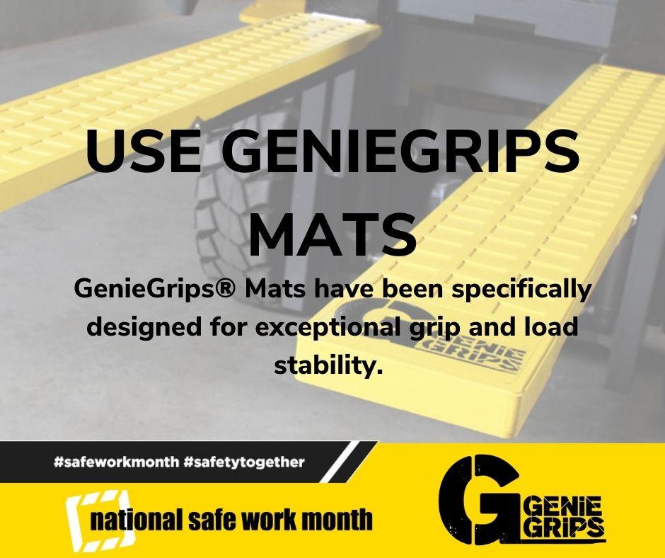#SafeWorkMonth #SafetyTogether #GenieGrips #GetAGrip #AustralianManufacturer #AustralianMade #AustralianExporter #Safety #SafetyFirst #Forklifts #ForkliftSafety #Warehouse #WarehouseSafety #ProductProtection #AustralianTrustedTrader #ATT #Mat #Cushion #Cap #LoadingMirror https://t.co/xL4GsI7mM6
