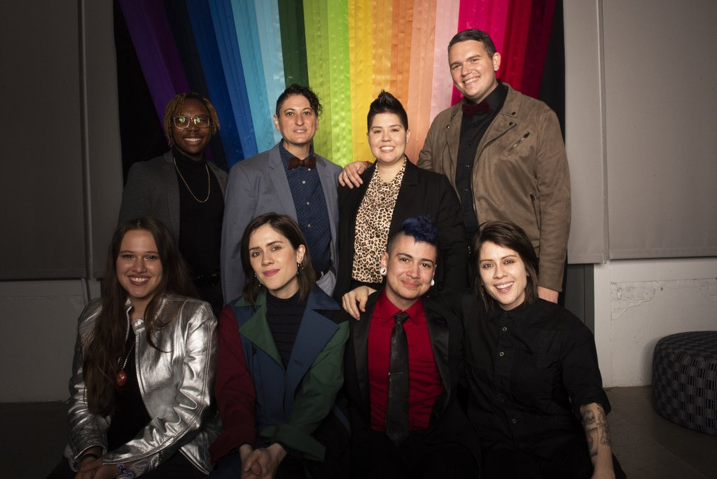 #TBT: After two years of supporting #LGBTQ+ summer camps, @teganandsara met the team and a few of the youth from @bravetrails at #OurNight, a fundraiser to celebrate 3 years of #teganandsarafoundation and to share the great work our partners are doing.