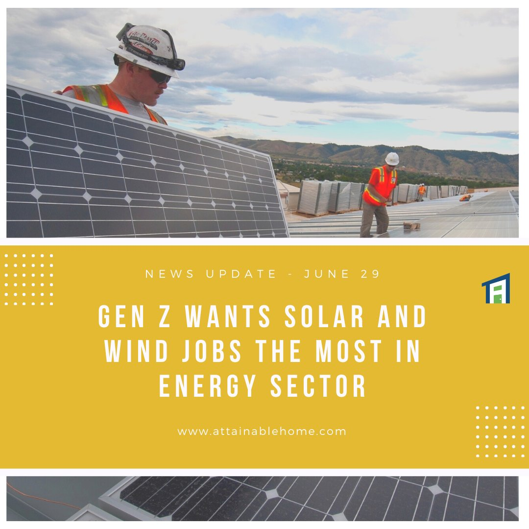 Members of Gen Z who are interested in energy sector careers are most interested in solar and wind, as reported by Electrek.  Read more: https://t.co/9S4ecrYI45  #NetZero #NetZeroHome #NetZeroHouse #NetZeroHomes #NetZeroHome #NetZeroEnergy #SolarEnergy #SolarPower #SolarPanels https://t.co/yQ700C6v7V