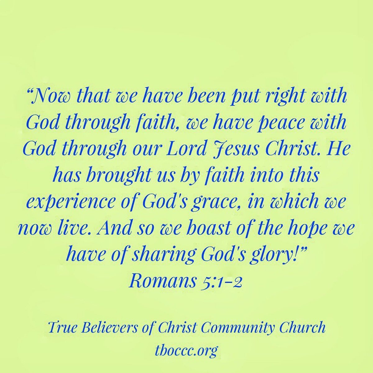 #tboc #tboccc #truebelieversofchristcommunitychurch  #romanroad #bible #verse #bibleverse #scripture #god #grace #faith #lord #jesus #christ #lordjesuschrist #glory #romans https://t.co/84H440s8PN