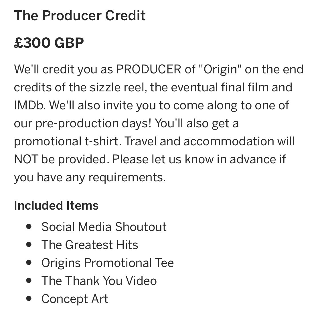 11 Producer perks & 7 Executive perks left at https://t.co/vRmNk9nqdj we would be able to do SO much if we sold these remaining perks! #indiefilm #womeninfilm #producer #scottish #wynonnaearp #scotland #outlander #crowdfunding #podernfamily #tvshows https://t.co/n1nqOdI0Qp