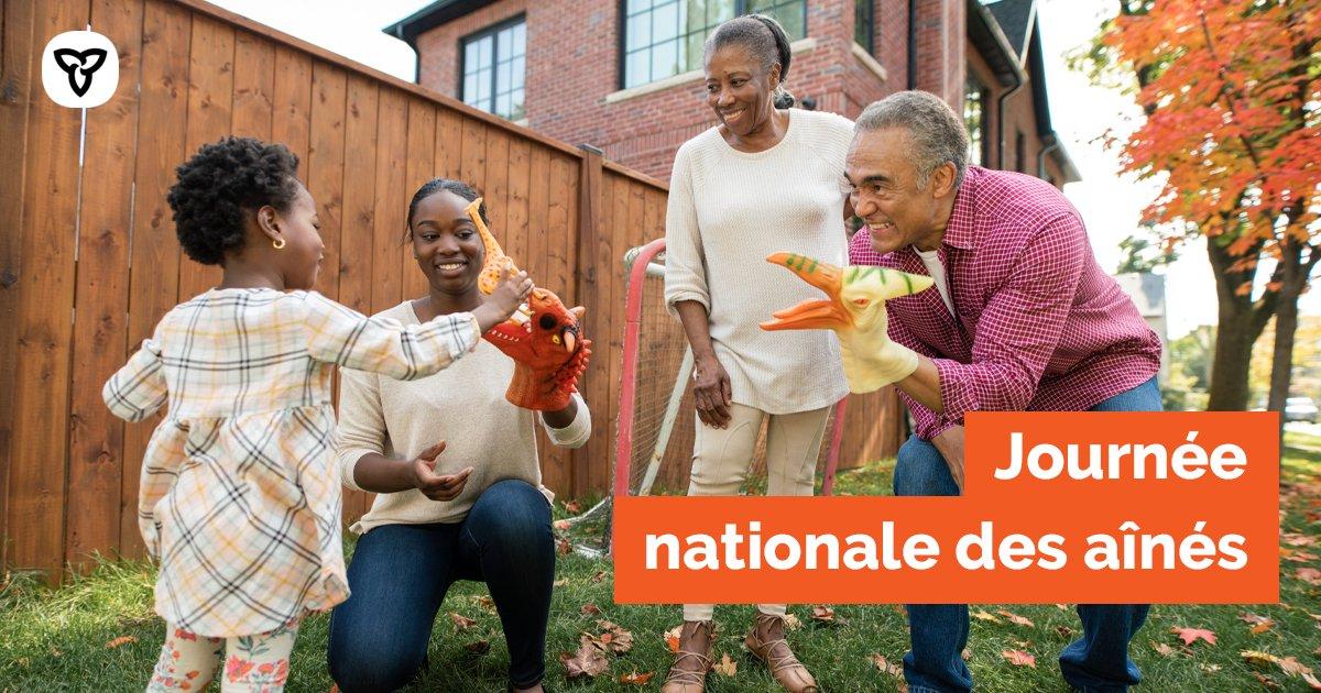 C'est aujourd'hui la #JournéeNationaleDesAînés et le 30e anniversaire de la Journée internationale des personnes âgées. Célébrons les réalisations des Ontariens âgés qui ont fait de l'#Ontario la meilleure province du meilleur pays au monde : https://t.co/iI0gfwj9sM https://t.co/UstbwAg0yK