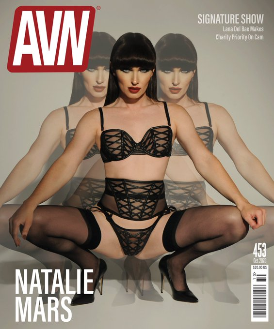 I'm very proud to announce that I'm AVN Magazine's October cover model! And I'm absolutely thrilled with