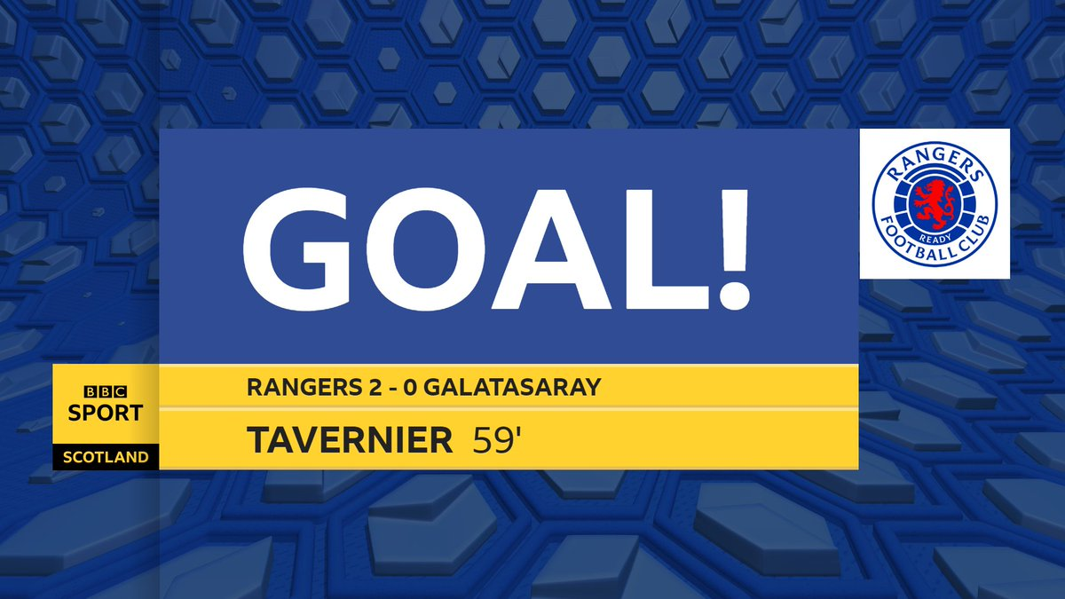 Rangers double their lead against Galatasaray.  30 minutes away from the Europa League group stage...  Updates 👇  #bbcfootball #UEL