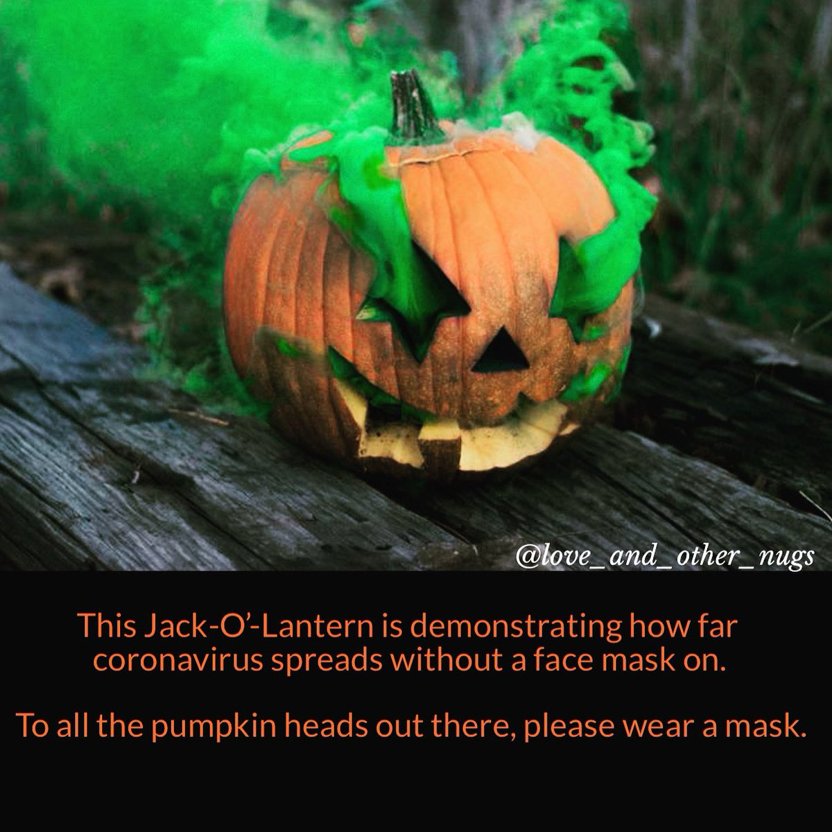 Don't be like this pumpkin head, wear a #facemask.  #October1st #Halloween2020 #coronavirus #COVID19 #Memes #writersofinstagram #WritingCommunity https://t.co/zgJFrfAiUs