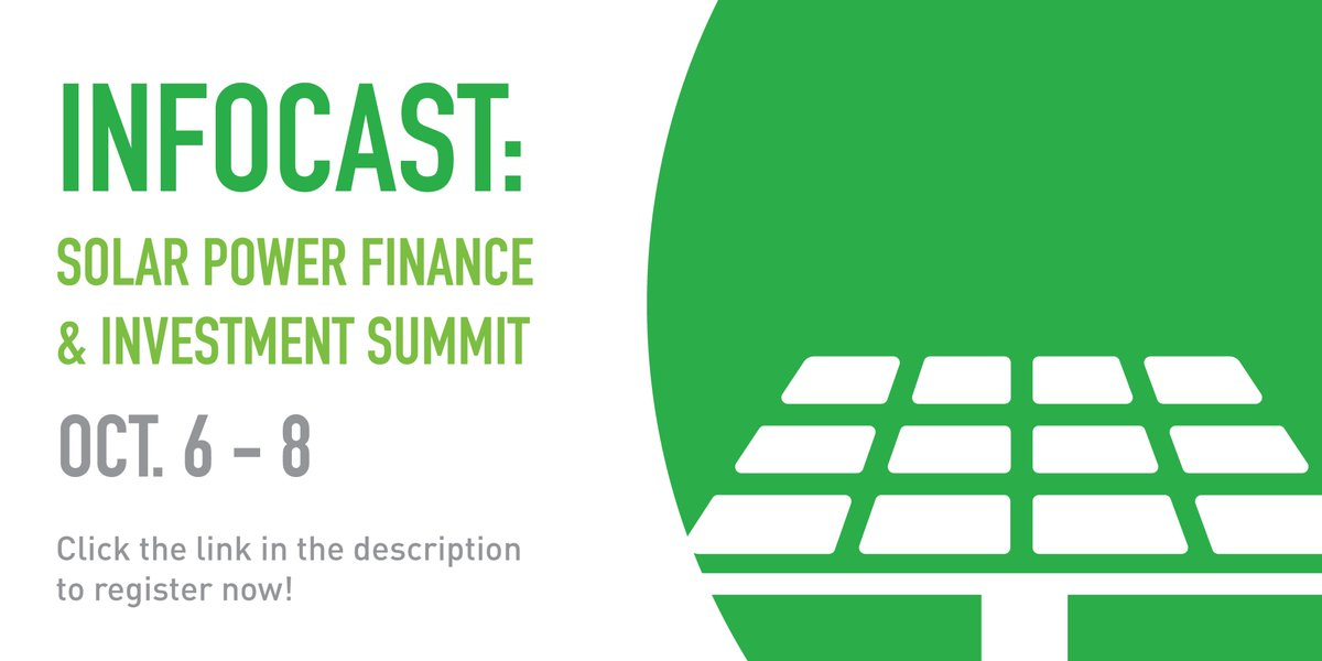 Join us at Infocast for the Solar Power Finance & Investment Summit  Register now to attend: https://t.co/QJGmhiDYJF . . . #JinkosolarUS  #solarpanels #solarenergy #sustainable #eco #ecofriendly #solar #eagle #reliability #solarpower #sustainability https://t.co/4Rp4A5Pg4b