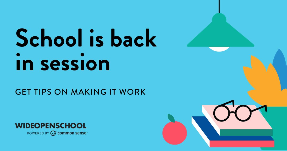 This school year comes with unique challenges but you can set your family up for success! Find distance learning tips and resources on making it work in the Back-to-School Guide for Families from #WideOpenSchool!  https://t.co/Z9ka4qKAFL https://t.co/Rpstu6p4bC