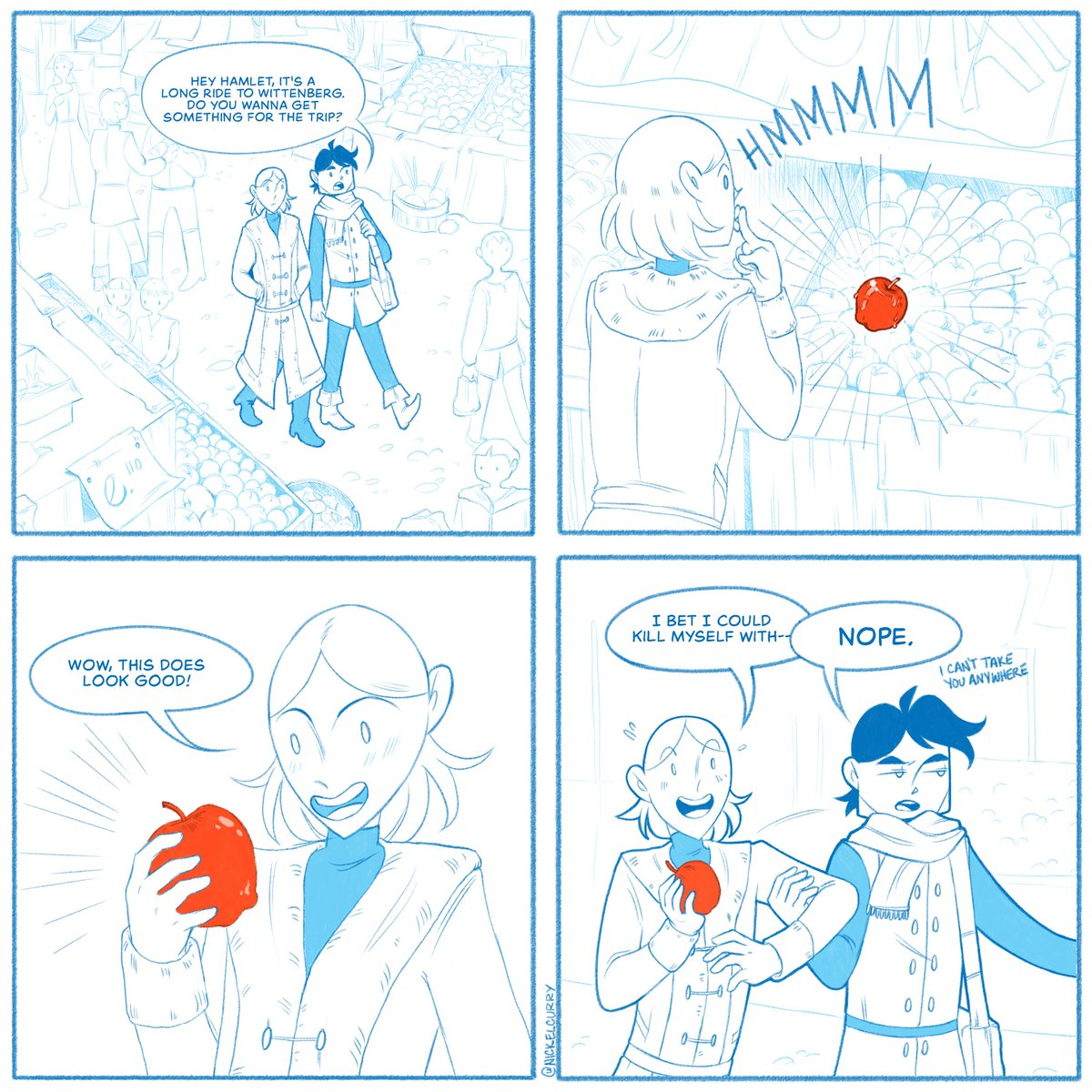 Hamlet is nothing if not resourceful.  #hamlet #shakespeare #webcomic https://t.co/yryEwAl7t9