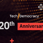 Image for the Tweet beginning: #Happy #20th Anniversary @techdemocracy !!