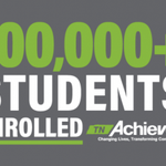 Image for the Tweet beginning: To celebrate enrolling 100k students