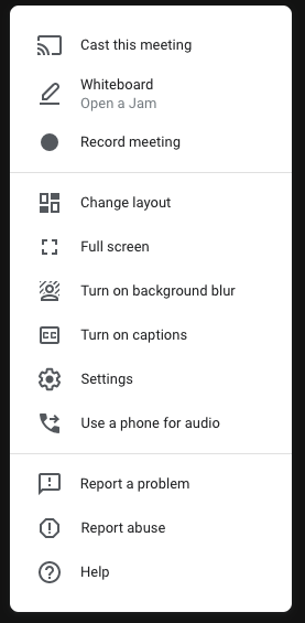 Pretty excited to see background blur and jamboard integration show up in Google Meet today. #GoogleEdu @jeffcoedtech @GEGColorado https://t.co/FGJGNXcjhQ