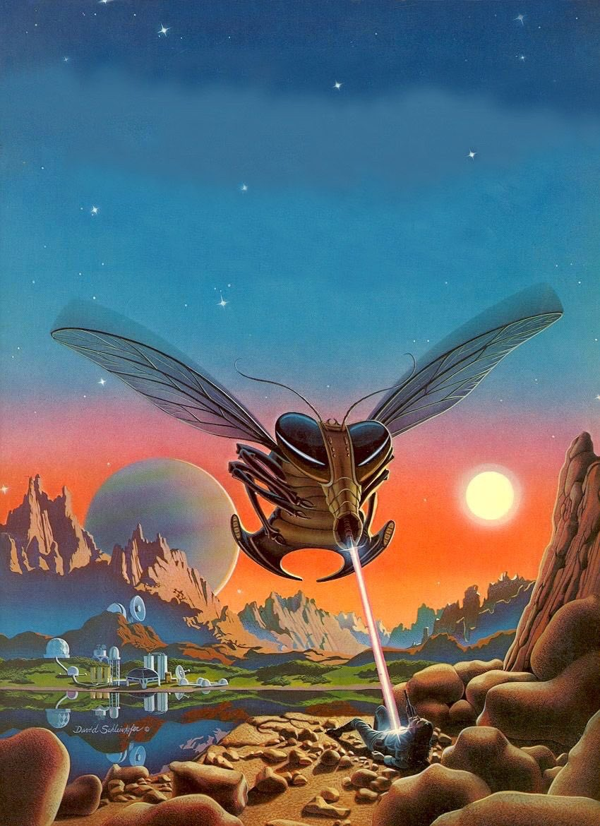 Art by David Schleinkofer. From Tomorrow and Beyond: Masterpieces of Science Fiction Art (1978) https://t.co/2zyNByAYQA