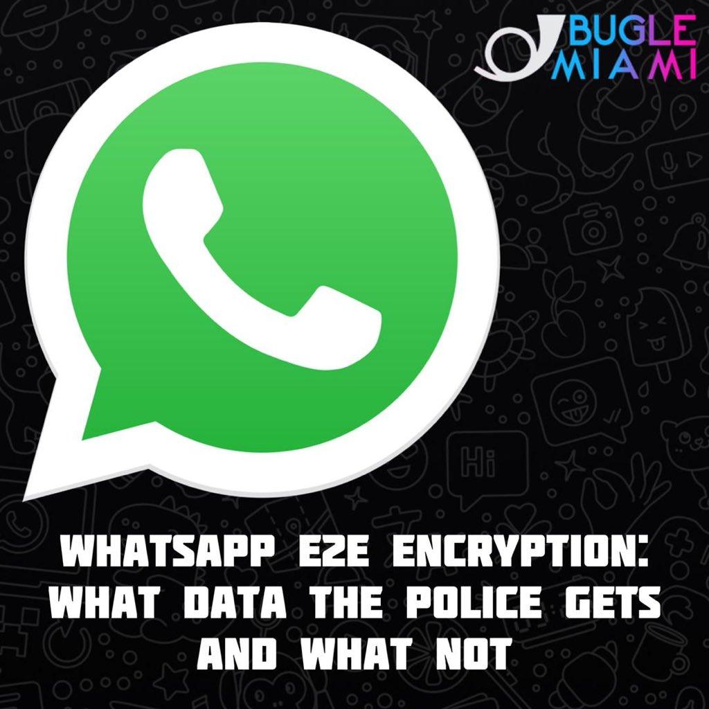 """⚠️ WhatsApp se toma muy en serio la seguridad y la privacidad del usuario. Dicho esto, la aplicación de mensajería también """"trabaja en estrecha colaboración con el Gobierno y la policía siempre que sea necesario"""".   #BugleMiami #Miami #WhatsApp #Facebook #Security #Chat https://t.co/bfAW9lF04L"""