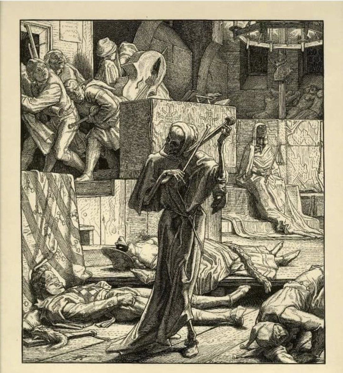 Jf Twitter પર La Muerte Toca Do Violin Epidemia De Cólera En Paris Artista Alfred Rethhel