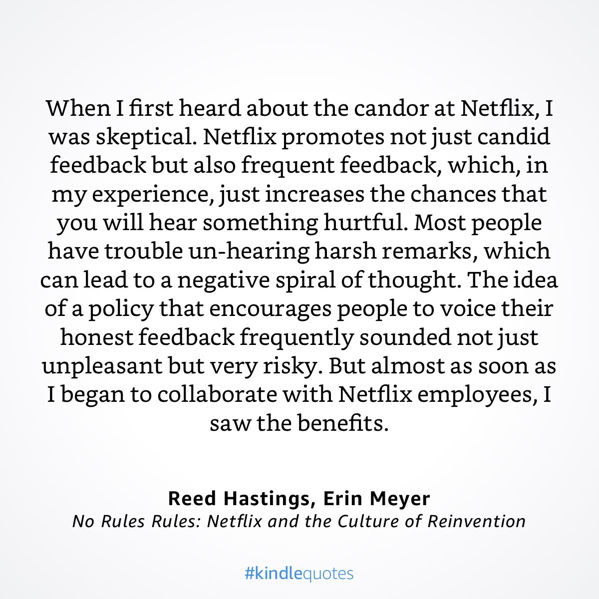 This book is a must read. Must must read. No Rules Rules by @reedhastings and @ErinMeyerINSEAD. Absolutely epic!