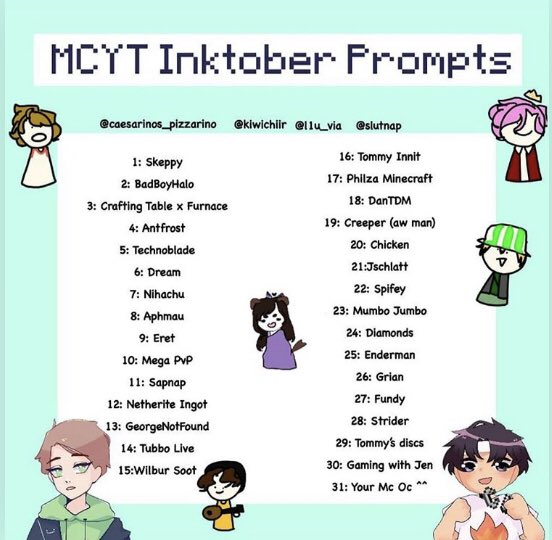 Flora On Twitter Just Gonna Try Doing This Mcty Inktober Everyday Cuz Why Not Mcytprompts Insta So Here S Day One Skeppy Skeppy Fanart Skeppyfanart Octoberchallenge Inktober Inktober2020 Mcyt Digitalart Art Myart