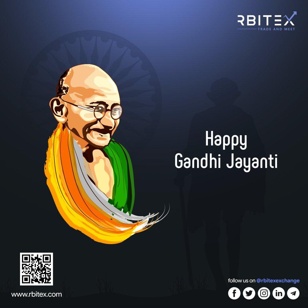 Happy Gandhi Jayanti Everyone 🇮🇳 #gandhijayanti  #rbitex #comeflywithus #Bitcoin #crypto #Trading #Cryptocurrency #Bitcoinmining #Blockchain #Btc #Ethereum #Eth #Forex #Forextrader #Forextrading #Money #cryptonews #cryptoworld #Binary #altcoin #Ripple #Binance #KuCoin #coinbase