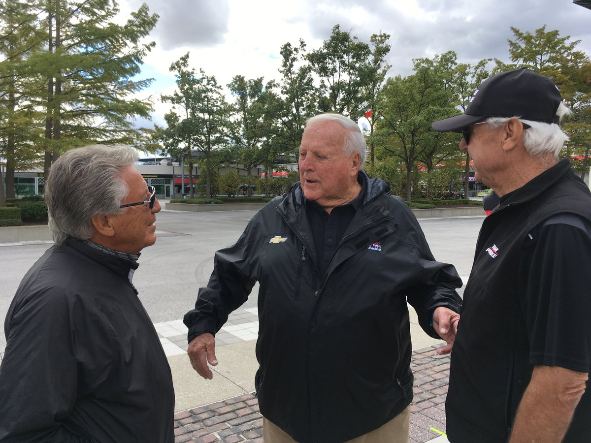 Holding court at the Speedway with AJ Foyt and Rick Mears.  #nofilter https://t.co/28F0AdUHuG